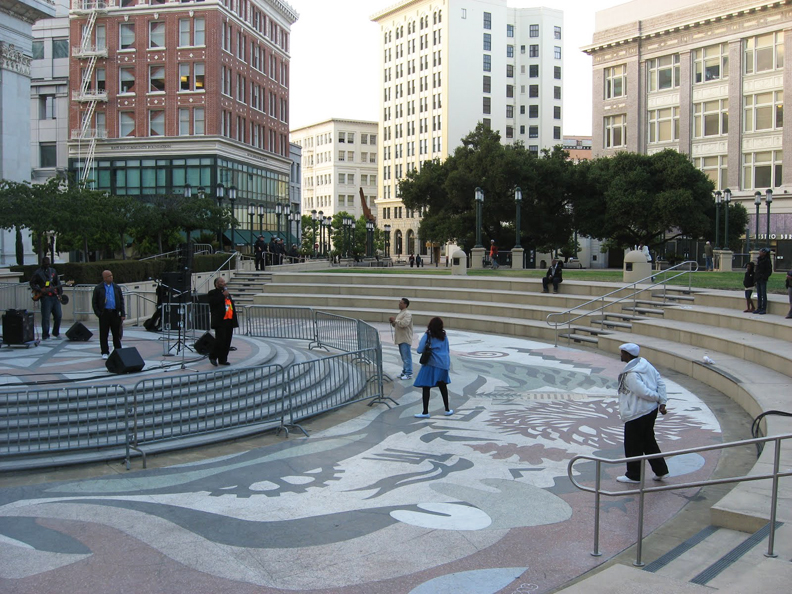 Oscar-Grant-Mehserle-verdict-empty-Ogawa-Plaza-Oakland-070810-by-Wanda, Oakland says Johannes Mehserle is guilty, Local News & Views
