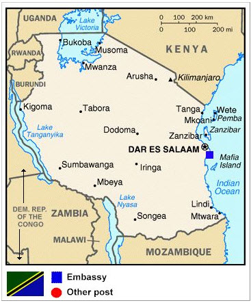 Tanzania-map, Law Professor Jwani Mwaikusa: Martyr for truth at the International Criminal Tribunal for Rwanda (ICTR)?, World News & Views
