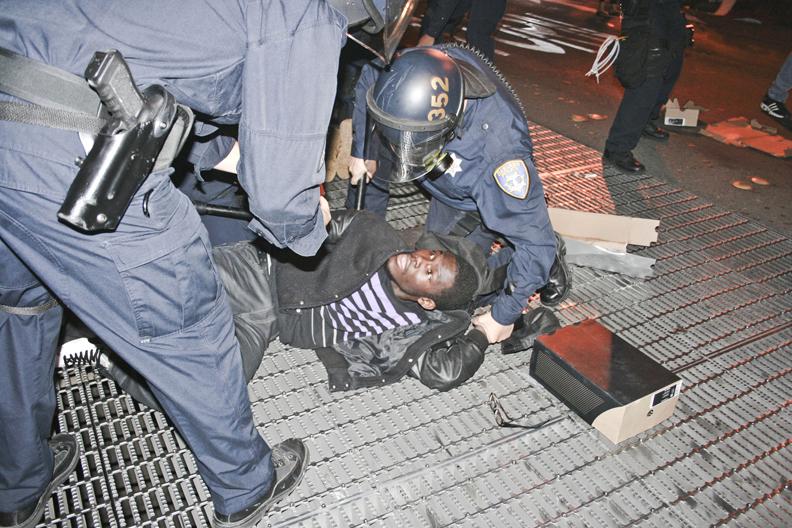 Oscar-Grant-Mehserle-verdict-rebellion-young-Black-man-arrested-070810-by-Francisco-Barradas-El-Tecolote-web, Watching justified rage consume Oakland, Local News & Views