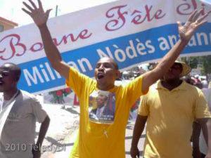 day-Rene-Civil-Lavalas-organizer-071510-by-©-Gary-Dolcine-Teledyol-300x225, Haiti: Six months after the quake, World News & Views