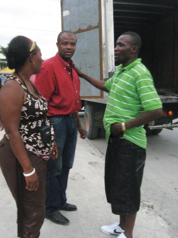 Haiti-Rea-husband-Bataille-rt-Arnold-Azolin-construction-supply-owner-0810-by-Wanda, Wanda in Haiti: Pain, protest, planning for the future, World News & Views