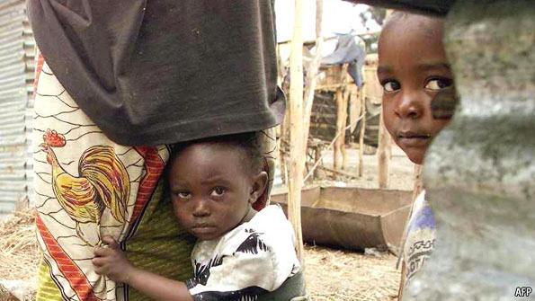 Rwandan Hutu refugees in Congo camp