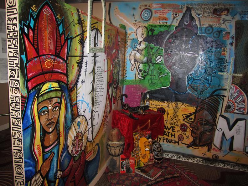 Black-Diamonds-Shining-altar-to-ancestors-Fela-exhibition-100710-by-Larry-Dobie-web, The Hall Of Culture Fall of Vultures: A Fela Resurrection, Culture Currents