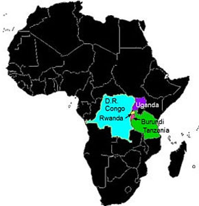Great-Lakes-Region-of-Africa-map-2, ICTR lawyers: No justice for Congo from international courts, World News & Views