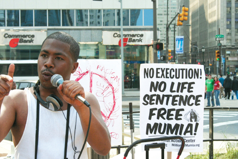 JR-speaks-at-Mumia-Philly-rally-041908-by-JR-web, Pam Africa: 100% death penalty abolition must include Mumia, National News & Views