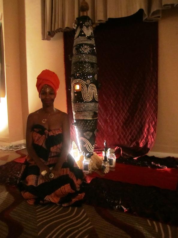 Karen-Seneferu-sculpture-'Son-Heal-Your-Self'-Fela-exhibition-100710-2-by-Larry-Dobie-web, The Hall Of Culture Fall of Vultures: A Fela Resurrection, Culture Currents
