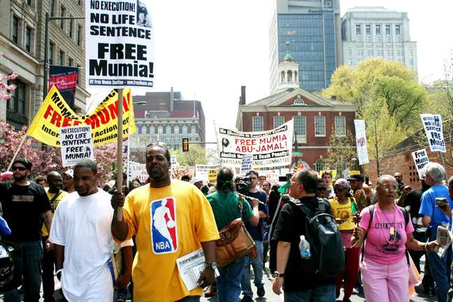 Mumia-rally-Philly-041908-by-JR-web, Pam Africa: 100% death penalty abolition must include Mumia, National News & Views