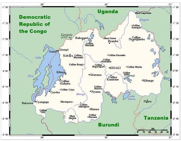 Rwanda-map-by-Wikimedia2, Rwandan opposition leader Victoire Ingabire arrested, World News & Views