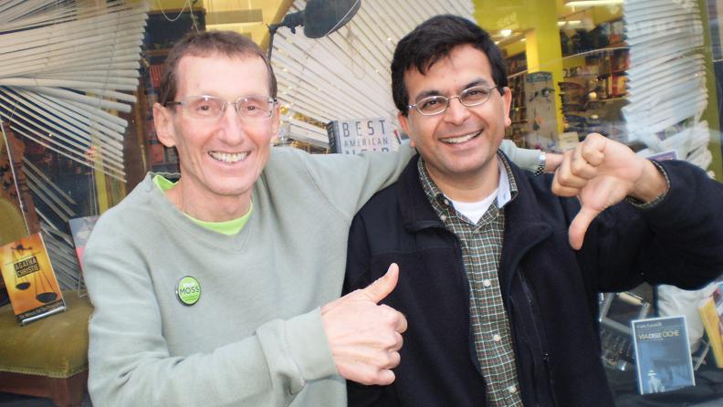 Ted-Loewenberg-president-Haight-Ashbury-Improvement-Association-Praveen-Madan-owner-Booksmith-Bookstore-by-Carol-Harvey, Civil sidewalks or civil rights?, Local News & Views
