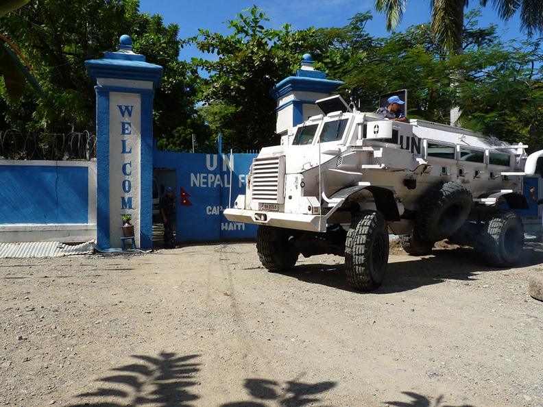 Haiti-Cap-Haitien-Nepalese-UN-troops-111810-by-Ansel-Herzweb1, 'All elements of society are participating': impressions of Cap Haitien's movement against the U.N., World News & Views