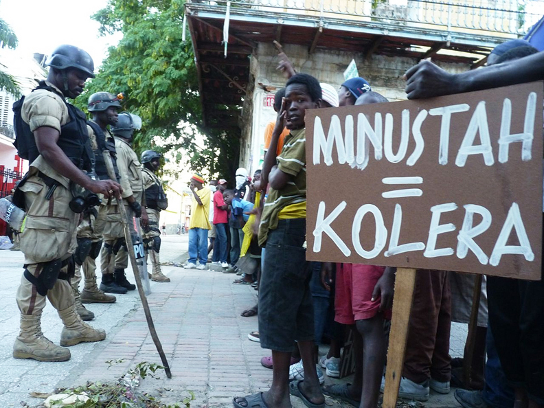 Haiti-Cap-Haitien-protest-MINUSTAHKOLERA-111810-2-by-Ansel-Herz2, 'All elements of society are participating': impressions of Cap Haitien's movement against the U.N., World News & Views