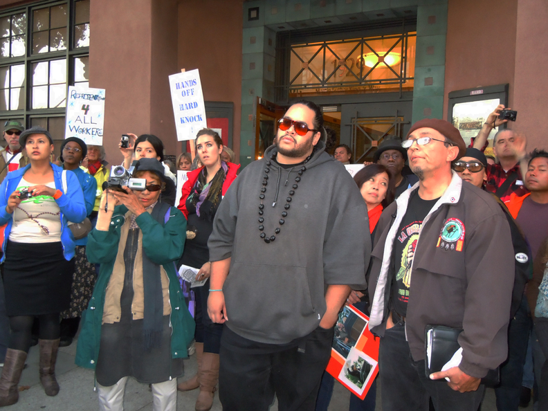 Rally-to-Save-Hard-Knock-Radio-Flashpoints-and-Full-Circle-at-KPFA-crowd-111110-by-Lisa-Dettmer-web, Clowns and conspiracy nuts: an open letter to Michael Krasny, KQED Forum host, National News & Views