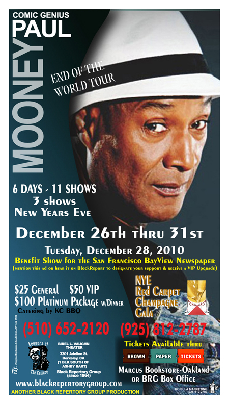 Black-Rep-1210, 'Nigger means God': an interview wit legendary comedian Paul Mooney, Culture Currents