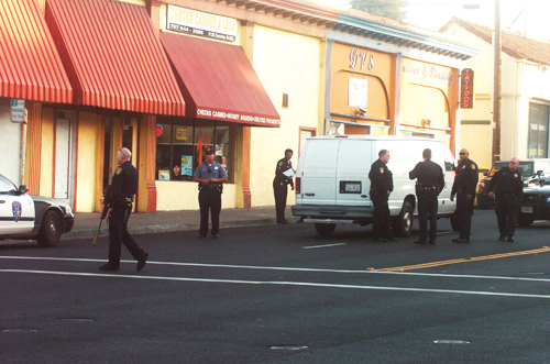 Guy-Jarreau-police-murder-aftermath-Sonoma-Blvd-Vallejo-121110-by-Mike-Jory-Times-Herald, The Mehserle effect: Vallejo shooting tests era of police accountability, Local News & Views