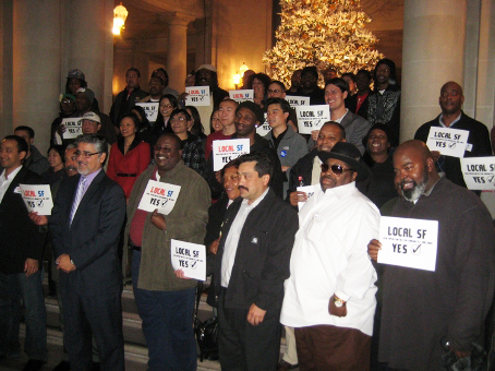 John-Avalos-advocates-celebrate-local-hire-becoming-law-on-Christmas-by-Paolo-Asuncion1, Mandatory local hiring becomes law in San Francisco, Local News & Views