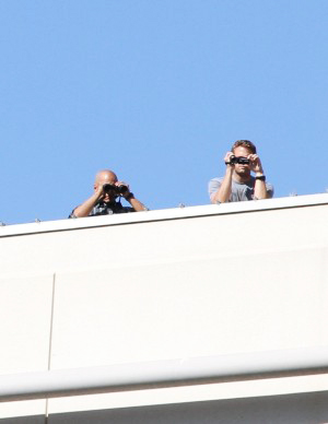 Oscar-Grant-Mehserle-verdict-rooftop-cops-monitor-record-protesters-Oakland-070810-by-Ali-Winston, Police files reveal federal interest in Oscar Grant protesters, especially 'anarchists', Local News & Views