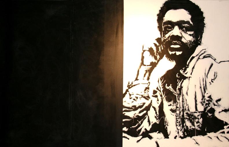 @BobbySeale-acrylic-on-canvas-60x76-by-Sophia-Dawson, Wet paint: an interview with visual artist Sophia Dawson, Culture Currents