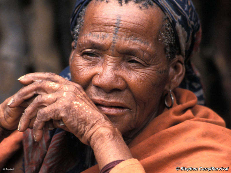 Botswana-Bushman-elder-woman-self-sufficient-prior-to-govt-eviction-by-c-Survival, Victory for Kalahari Bushmen: Court grants right to water, World News & Views