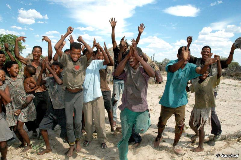 Botswana-Bushmen-celebrate-court-victory-to-return-home-012711-by-c-Survival, Victory for Kalahari Bushmen: Court grants right to water, World News & Views