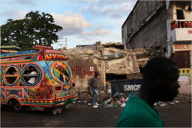 Haiti-school-marked-HRG-OK-ready-for-Haiti-Recovery-Group-removal-101810-by-Michael-Appleton-NYT, One year after Haiti earthquake, corporations profit while people suffer, World News & Views