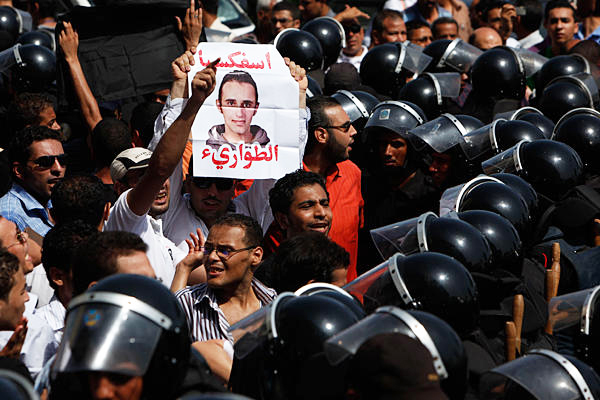 Egypt-youth-protest-at-trial-of-2-cops-for-fatal-beating-of-Khaled-Said-072710-by-Nasser-Nasser-AP, Egypt revolution youth form national coalition, World News & Views