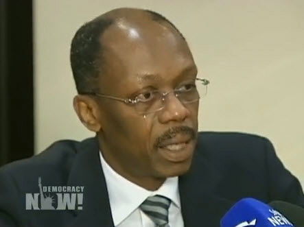 Haiti-President-Jean-Bertrand-Aristide-broadcasts-statement-on-earthquake-011510-by-DN, In Haiti, reliving Duvalier, waiting for Aristide, World News & Views