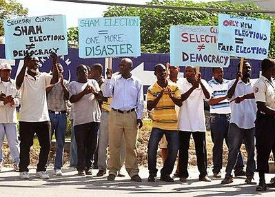 Haiti-election-sham-2011, Haiti: Annul the elections, World News & Views