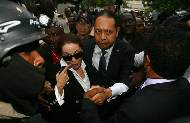 Jean-Claude-Baby-Doc-Duvalier-wife-Veronique-Roy-leave-court-PAP-011811-by-Hector-Retamal-AFP-Getty, Haiti: Annul the elections, World News & Views