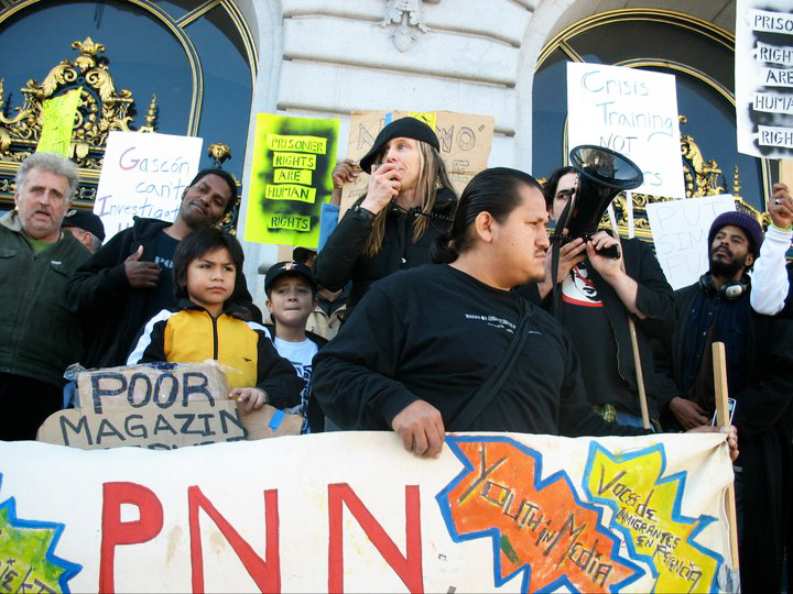 POOR-at-Stop-SFPD-Terror-rally-011711-by-PNN, Tell SF Police Commission Wednesday: NO Tasers!, Local News & Views