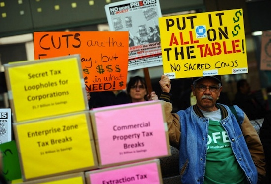 Protesting-Gov.-Jerry-Browns-budget-cuts-to-social-services-121010-by-Getty-Images, These budget cuts will kill our children, National News & Views