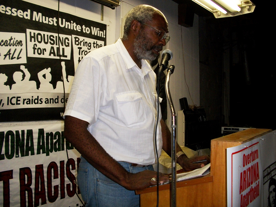 Abayomi-Azikiwe-of-Pan-African-News-Wire-at-Black-August-Detroit-080710, U.S., NATO and the attacks against Libya, World News & Views