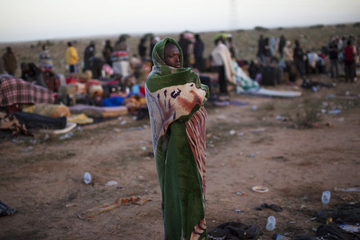 Ghanaians-fleeing-Libya-among-250000-migrant-workers-in-Tunisian-border-refugee-camp-by-Emilio-Morenatti, U.S., NATO and the attacks against Libya, World News & Views