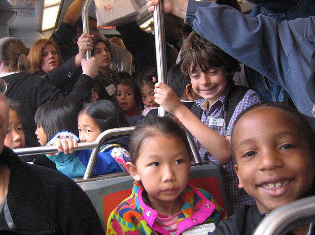 Muni-bus-packed-with-kids-by-Alie-Slavin, Don't miss the bus! Free Youth Fast Pass Community Clinics March 10 & 17 in the Mission and March 14 & 21 in BVHP, Local News & Views