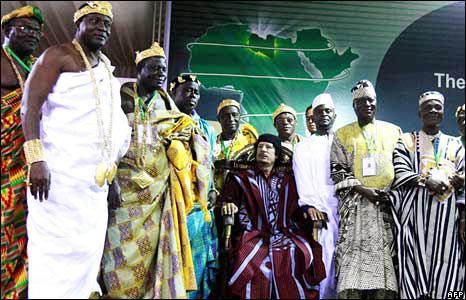 Qaddafi-meets-with-over-200-African-traditional-rulers-to-urge-unity-082908-by-BBC, Libya, getting it right: a revolutionary pan-African perspective, World News & Views