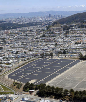 Sunset-Reservoir-solar-aerial-view, San Francisco solar back on track?, Local News & Views