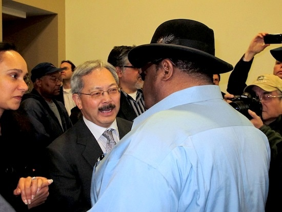 Mayor-Ed-Lee-ABU's-James-Richards-Sup.-John-Avalos-at-local-hiring-victory-party-022311-by-John-Upton-The-Bay-Citizen, Mounting opposition confronts San Mateo's anti-local hiring assemblyman, Local News & Views