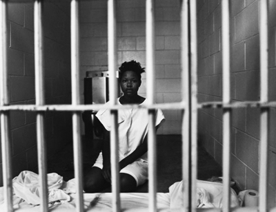 Black-woman-prisoner, Challenge the criminalization of our youth!, Behind Enemy Lines