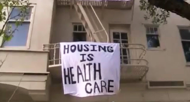 Kaiser-owned-residential-bldg-takeover-041111-by-Carol-Harvey, Partisan resistance: Anatomy of a takeover at a health care corporation, Local News & Views