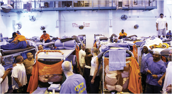 Prison-overcrowding-Lancaster-4600-double-capacity-150-in-gym-0310-by-Ann-Johansson-NYT1, Supreme Court upholds ruling to reduce California prison population, Behind Enemy Lines