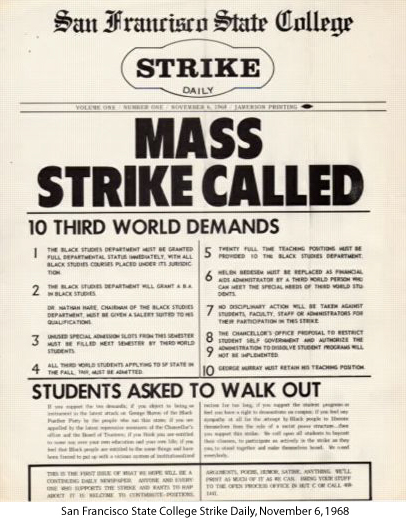 SF-State-Third-World-Strike-demands-110668, Help for homecoming prisoners: Second Chance, Last Chance to Succeed at City College, Local News & Views