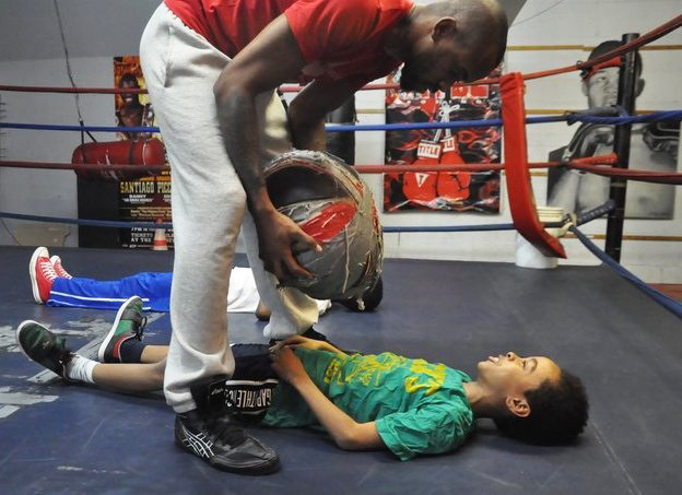 Stic.man-son-friends-son-work-out-in-boxing-ring2, Stic.man's 'The Workout': Making health political – and fun, Culture Currents