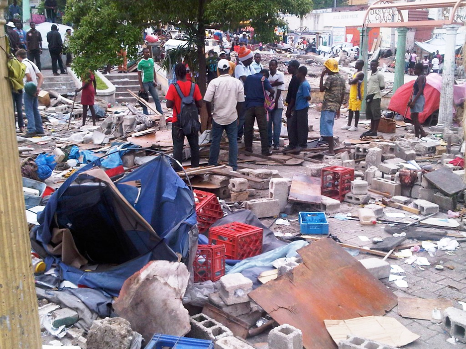 Violent-eviction-from-Port-au-Prince-Delmas-Kafou-Ayopo-camp-by-police-mayor-052311-by-Etant-Dupain, Black Congress members outraged over camp destructions by Haitian police, World News & Views