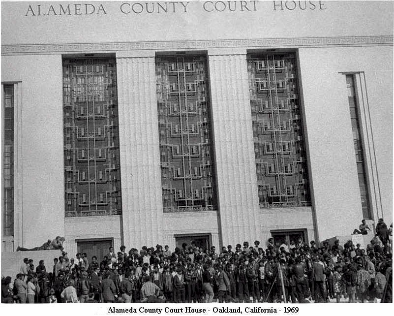 Black-Panthers-outside-Alameda-County-Courthouse-1969-by-Roz-Payne, Oakland gang injunction is deceptive and wrong, Local News & Views