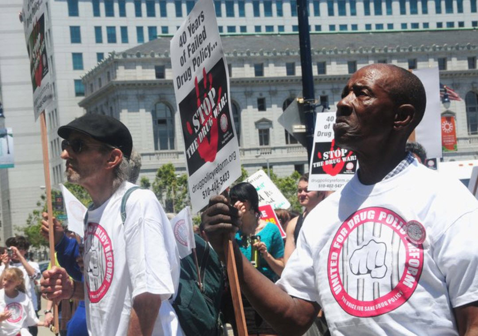 Communities-Rising-to-End-the-Drug-War-and-Mass-Incarceration-300-protest-on-40th-anniv.-of-Nixons-declaration-of-war-on-drugs-at-SF-City-Hall-061711-2-by-Bill-Hackwell, 'Communities rising' across California to end mass incarceration and the 40-year war on drugs, Behind Enemy Lines