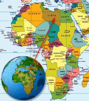 Libya-on-Africa-map-globe1, NATO's 'alternate universe' in Libya, World News & Views