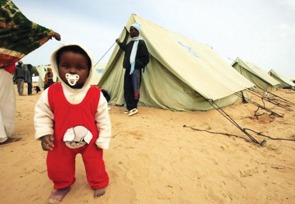 Somalian-baby-in-refugee-camp-near-Libyan-border-0511, War on Libya is war on Africa, World News & Views