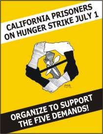 California-Prisoners-on-Hunger-Strike-July-1-graphic, Letter of support for the hunger strikers from Bomani Shakur of the Lucasville 5 – and other strike updates, Behind Enemy Lines