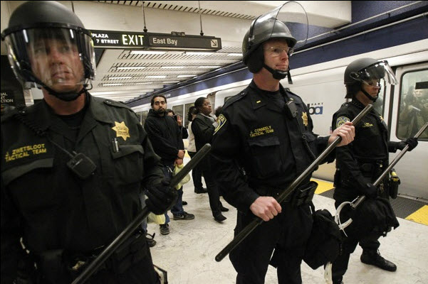Civic-Center-BART-protest-Charles-Hill-cop-killing-071111-2-by-Aric-Crabb-SJ-Mercury-News, BARTing while homeless: Charles Blair Hill is the latest BART police assassination target, Local News & Views