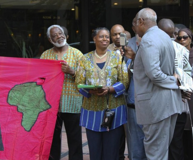 Cynthia-McKinney-protests-Libya-bombing-press-conf-at-Rep.-John-Lewis-office-062911, Cynthia McKinney: Citizen action to stop the bombing of Africa, World News & Views
