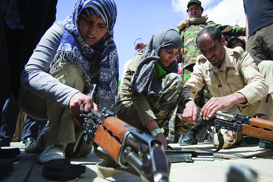 Libyan-students-learn-weapons-use-to-defend-against-US-NATO, Libya's neighborhoods prepare for NATO boots, World News & Views